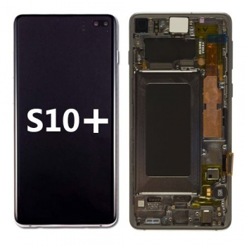 LCD Assembly with frame for Samsung Galaxy S10 Plus (Black)