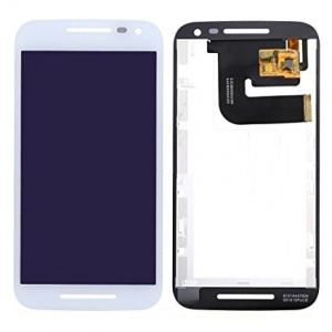 Display Assembly (LCD and Touch Screen) (White) For Motorola Moto G (3rd Gen)