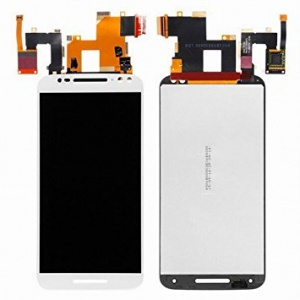 LCD & Touch Screen Digitizer with Frame (White) For Motorola Moto X