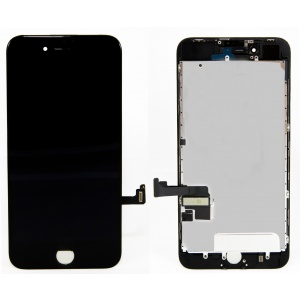 LCD Assembly With Pre-Installed Back Plate (Supreme Quality Aftermarket, Made by AUO) (Black) For iPhone 8 Plus