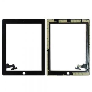 Glass/Digitizer with Adhesive For iPad 2 (Premium Quality Aftermarket) (Black)