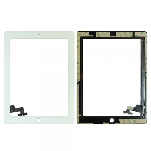 Glass/Digitizer with Adhesive For iPad 2 (Premium Quality Aftermarket) (White)