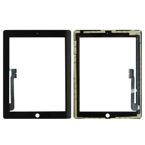 Glass/Digitizer with Adhesive (Premium Quality) (Black) For iPad 3/4