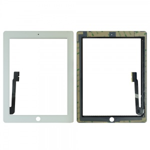 Glass/Digitizer with Adhesive For iPad 3/4 (Premium Quality) (White)