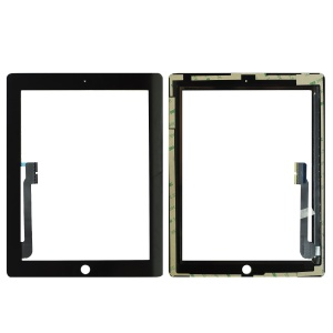 Glass/Digitizer with 3M Adhesive For iPad 3/4 (Premium Quality AM) (Black)