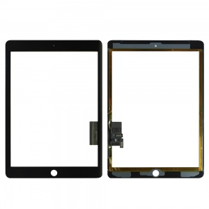 Glass/Digitizer with Adhesive (Premium Quality) (Black) For iPad Air