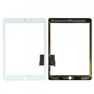 Glass/Digitizer with Adhesive (Premium Quality Aftermarket) (White) For iPad Air