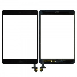 Digitizer with IC Chip & Plain Home Button Assembly (Premium Quality) (Black) For iPad Mini