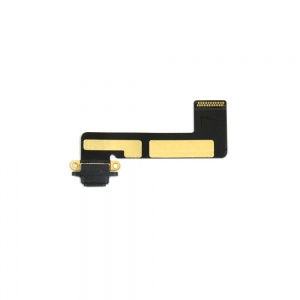 Charging Port with Flex Cable (Black) For iPad Mini