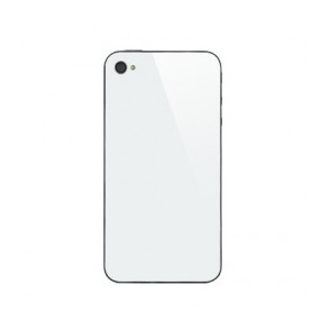 Back Glass For iPhone 4 GSM (White)