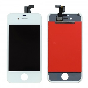 LCD Assembly (Supreme Quality Aftermarket, Made by Tian-Ma) (White) For iPhone 4 GSM