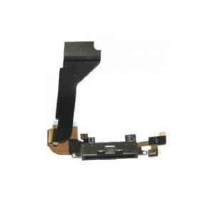 Charging Port Flex Cable (Black) For iPhone 4 GSM