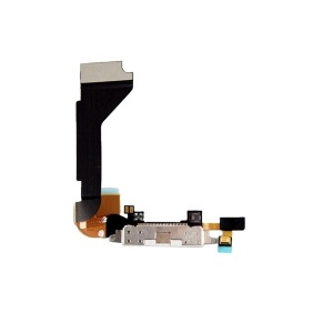 Charging Port Flex Cable For iPhone 4 GSM (White)