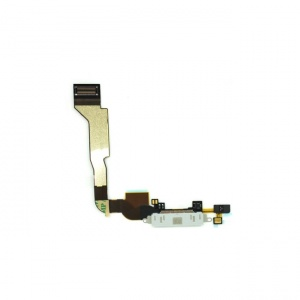 Charging Port Flex Cable (White) For iPhone 4 CDMA