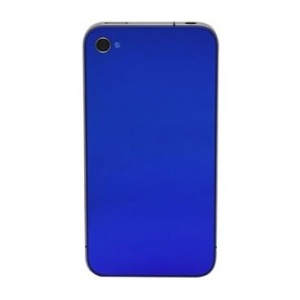 Back Glass For iPhone 4S/4 CDMA (Blue)