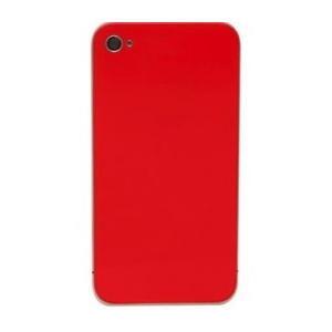 Back Glass For iPhone 4S/4 CDMA (Red)