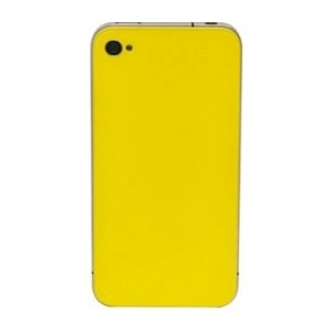 Back Glass For iPhone 4S/4 CDMA (Yellow)