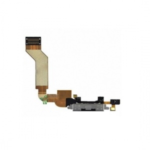 Charging Port Flex Cable (Black) For iPhone 4S