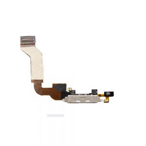 Charging Port Flex Cable (White) For iPhone 4S