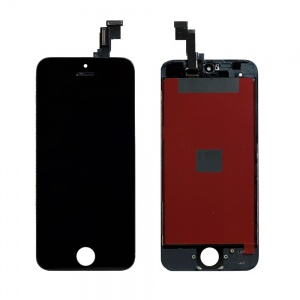 LCD Assembly (Supreme Quality Aftermarket, Made by Tian-Ma) (Black) For iPhone 5C