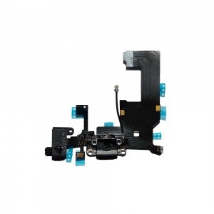 Charging Port Flex Cable For iPhone 5 (Black)