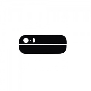 Top/Bottom Back Glass (Black) For iPhone 5S