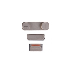 Power/Volume/Mute Button Bundle (Silver) For iPhone 5S