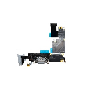 Charging Port Flex Cable (Black) For iPhone 6 Plus