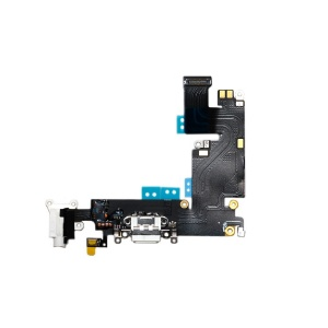 Charging Port Flex Cable (White) For iPhone 6 Plus