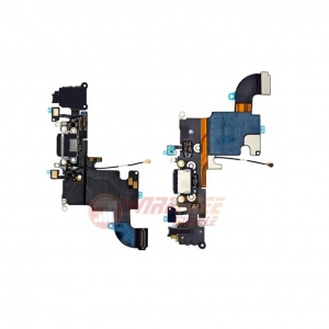 Charging Port Flex Cable (Black) For iPhone 6s