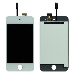LCD with Touch Screen Digitizer For iPod Touch 4 (Premium Quality) (White)