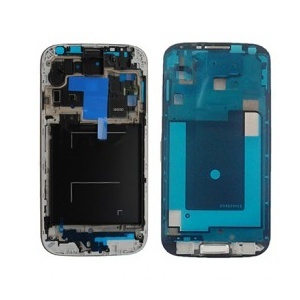Mid-Frame With Home Button For Samsung Galaxy S4 GSM i337/M919/i9505 (White)