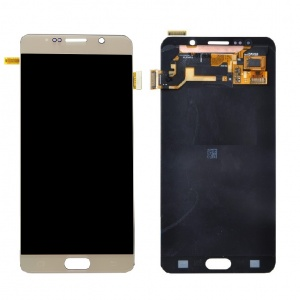 LCD with Digitizer (Gold) For Samsung Galaxy Note 5 (Service Pack)