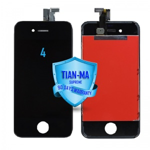 LCD Assembly For iPhone 4 GSM (Supreme Quality Aftermarket, Made by Tian-Ma) (Black)