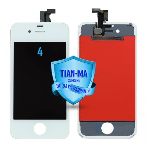 LCD Assembly For iPhone 4 CDMA (Supreme Quality Aftermarket, Made by Tian-Ma) (White)