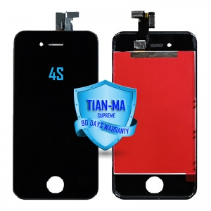 LCD Assembly For iPhone 4S (Supreme Quality Aftermarket, Made by Tian-Ma) (Black)