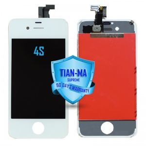 LCD Assembly For iPhone 4S (Supreme Quality Aftermarket, Made by Tian-Ma) (White)