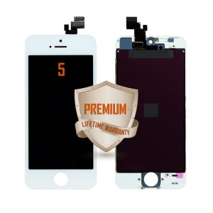 LCD Assembly For iPhone 5 (Premium Quality) (White)