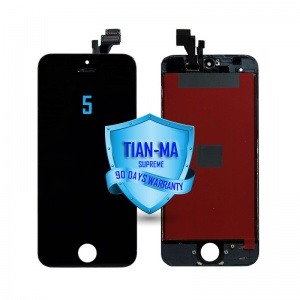 LCD Assembly For iPhone 5 (Supreme Quality Aftermarket, Made by Tian-Ma) (Black)