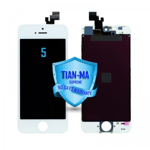 LCD Assembly For iPhone 5 (Supreme Quality Aftermarket, Made by Tian-Ma) (White)