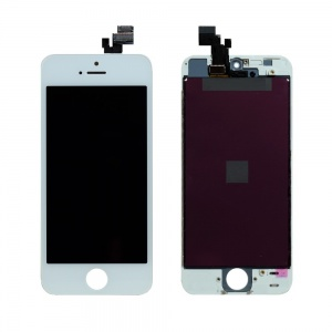 LCD Assembly (Supreme Quality Aftermarket, Made by Tian-Ma) (White) For iPhone 5