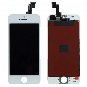 LCD Assembly (Premium Quality Aftermarket, Made by Tian-Ma) (White) For iPhone 5S/SE