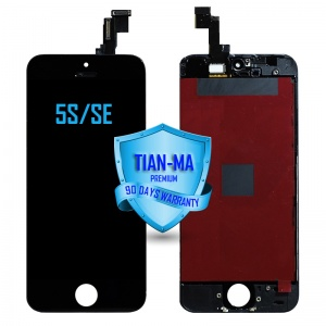 LCD Assembly For iPhone 5S/SE (Premium Quality Aftermarket, Made by Tian-Ma) (Black)