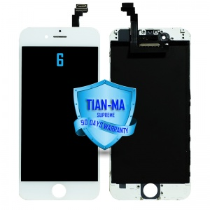 LCD Assembly For iPhone 6 (Supreme Quality Aftermarket, Made by Tian-Ma) (White)