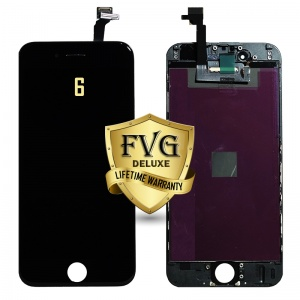 LCD Assembly For iPhone 6 (Deluxe Quality Aftermarket, Made By FVG) (Black)