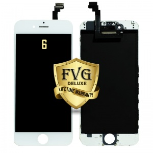 LCD Assembly For iPhone 6 (Deluxe Quality Aftermarket, Made By FVG) (White)
