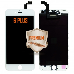 LCD Assembly For iPhone 6 Plus (Premium Quality) (White)