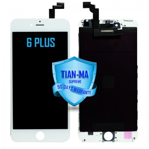 LCD Assembly For iPhone 6 Plus (Supreme Quality Aftermarket, Made by Tian-Ma) (White)