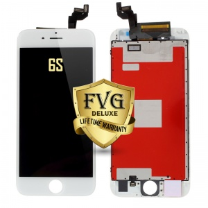 LCD Assembly For iPhone 6s (Deluxe Quality Aftermarket, Made By FVG) (White)