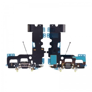 Charging Port Flex Cable (Black) For iPhone 7